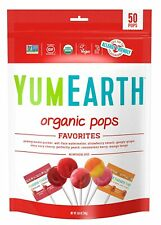 YumEarth Organic Lollipops, Variety Pack, 50 lollipops - 10.9 oz (pack of 1)...