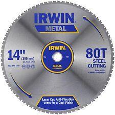 Irwin CIRCULAR SAW BLADE 355mm 80T Laser Cut, Anti-Vibration Vents USA Brand