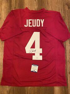 JERRY JEUDY AUTO Signed Alabama Crimson Tide Jersey Beckett COA Broncos