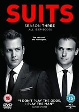 Suits - Season 3 with Patrick J Adams (DVD 2014) - Very Good Condition