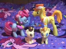 MLP G4 Mr Carrot Cake And Mrs Dazzle Cake Blind Bag Size Mini Figure With Babies