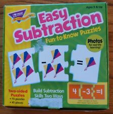 Trend Enterprises Easy Subtraction fun to know puzzle 15 puzzle mint condition