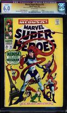 Marvel Super Heroes #15 Cgc 6.0 Stan Lee Ss Signed Medusa #1206551026