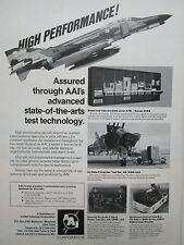 3/1980 PUB AAI TEST TECHNOLOGY RADAR SIDEWINDER AIR DATA COMPUTER F-4 PHANTOM AD
