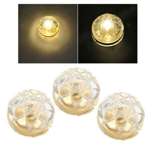 3x Miniatures LED Ceiling Lamp Battery Operated Set for 1/12 Dollhouse Room Toy