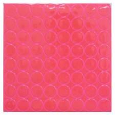 "PINK Reflective Adhesive Vinyl Mailbox Dots - 64 Stickers per Sheet - 1"" Wide"