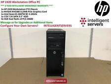 HP Z420 Workstation Intel Xeon  E5-2687W 3.1GHz 16GB RAM 1TB SATA Nvidia NVS300