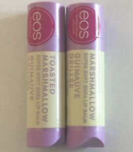 (2) Two EOS Toasted Marshmallow Super Soft Shea Lip Balm