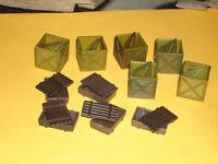 Square crates ammo box Team Elite / World Peack Keepers 1:18 diorama accessories