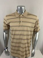 Brooks Brothers Men's Short Sleeve Performance Knit Polo Shirt Size M Tan O259