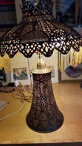 Pierced Brass Middle East Lamp