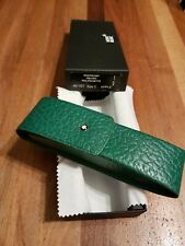 Montblanc Etui Leather Color Green Mod.OBLONG FOR TWO PENS  ( RARE)