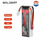 GOLDBAT 6000mAh 4S 55C Softcase Lipo Battery with Deans Plug for RC Car Truck