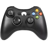 Xbox 360 Controller Black Official Microsoft Wireless Genuine Original OEM