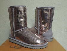 UGG CLASSIC SHORT HEATHERED LILAC SPARKLES/ SEQUIN BOOTS, US 6/ EUR 37 ~ NEW