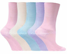 12pairs Ladies womens Diabetic socks Non-Elastic 100% Cotton gentle grip Colored