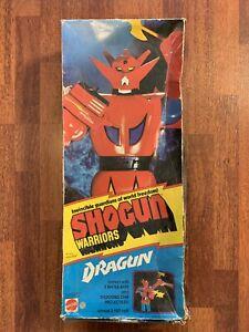 """Vintage 1970s Mattel Shogun Warriors Dragun 24"""" Jumbo Machinder with box robot"""