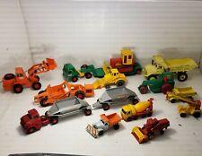 Vintage Matchbox Lesney / Dinky Toys Truck & Trailer Lot