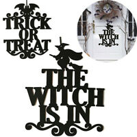 The Witch Is In Halloween Hanging Sign Door Hanging Halloween Decoration Party