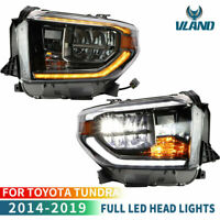 VLAND LED Phares pour 2014-18 Toyota Tundra Ramassage Feux Avant Avec séquentiel