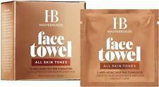 HauteBronze Face Towel Anti-Aging Self Tan Towelettes, 15 count All Skin Tones