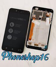 ORIGINALE Lenovo Vibe k5 LCD Display Set completo cornice vetro touch nero