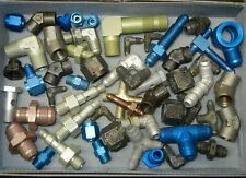 New listing Lot #3 Mixed An Ms Fittings Military Surplus Aircraft Supply Pipes Elbow T Joint