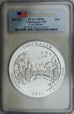 2011-P Chickasaw NRA (OK) 5 oz. Pure Silver Specimen Coin PCGS SP69 First Strike