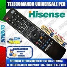 TELECOMANDO UNIVERSAL HISENSE; CLICCA SUL TUO MODELLO LO RICEVERAI GIA PRONTO