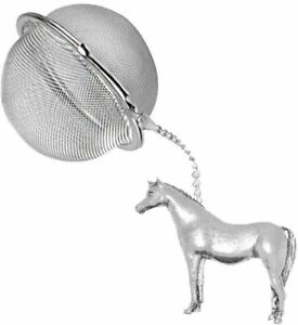 ppe08 Arab Horse  2 inch Tea Ball Mesh Infuser Stainless Sphere Strainer