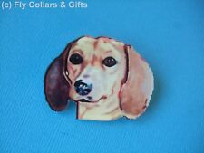 Cute Dachshund Dog Face Brooch Badge Puppy Acrylic Shaped Pin Doxie Sausage