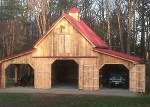 31 Car Barn Designs - Complete Pole-Barn Construction Plans (G7)