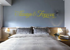 Always and Forever Wall Quotes Living Room Wall Stickers Wall Art UK 232
