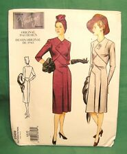 Vintage Vogue Sewing Pattern 1943 Design Misses DRESS #2569 UNCUT size 6-8-10