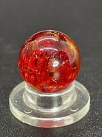 "Vitro Marble UV Active RED Crackle Glass Marble Player size 0.551""Mint"