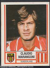 Panini Football 1981 Sticker - No 302 - Sunderland - Claudio Marangoni (AV)