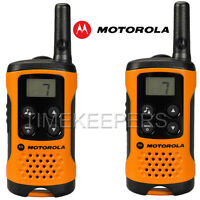 4Km Motorola TLKR T41 Walkie Talkie 2 Two Way PMR 446 Orange Radio Set Twin