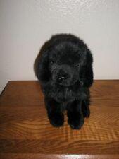 Vintage Ganz Black Plush Stuffed Newfoundland Puppy Dog Rare Christmas Xlnt.