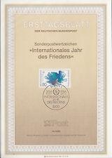TIMBRE FDC ALLEMAGNE  BONN OBL ERSTTAGSBLATT COMPOSITION DE COLOMBES 1986
