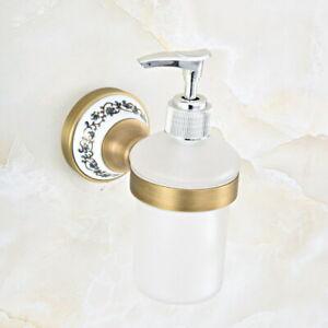 Antique Brass Kitchen Bathroom Wall Mounted Soap Dispensers Holder sba814