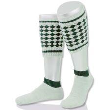 Loferl 2-teilig Rautenmuster natur/grün Wadenwärmer Trachten Socken Strümpfe