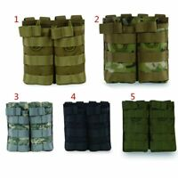 Tactical MOLLE Double Open Top Mag Pouch Magazine Pouch Airsoft Military Bag