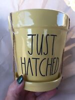 Rae Dunn New Easter JUST HATCHED Yellow Flower Pot