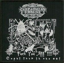 CARPATHIAN FOREST - Fuck You All!! Caput Tuum In Ano Est - Woven Patch/Aufnäher