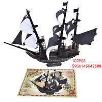 102 PCS 3D Puzzle Caribbean Pirate Ship Adult Kid Entertainment Jigsaw puz U_X