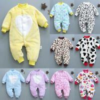 Newborn Infant Baby Girl Boy Cartoon Leopard Casual Jumpsuit Romper Soft Clothes