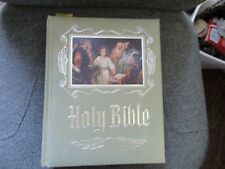 FAMILY HEIRLOOM HOLY BIBLE-KING JAMES VERSION RED LETTER 1971 EXCELLENT Green