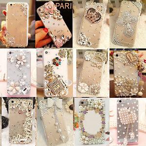 Handmade Luxury Bling Diamond Rhinestone Crystal Case Cover for LG Stylo 6 5 4