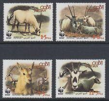 Jordanien Jordan 2005 ** Mi.1858/61 Tiere Animals WWF Gazelle Oryx