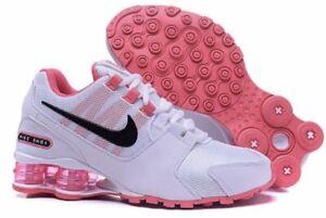 HOT NEW WOMEN Nike Shox Avenue Running Shoes White/Pink